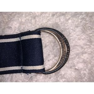 Ralph Lauren Accessories - Ralph Lauren Navy White Ribbon Belt